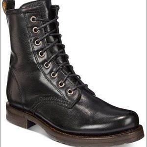 NEW Frye Veronica combat boots 8 black booties